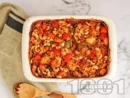 Рецепта Печени пилешко месо от гърди с киноа, кашу и зеленчуци на фурна